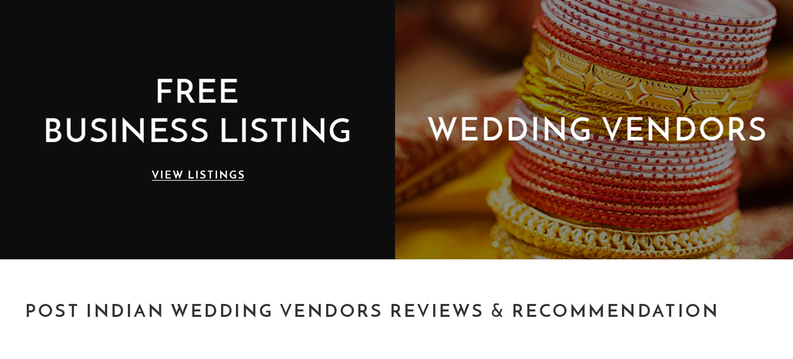 Wedding Vendor Banner
